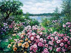 Harbor Roses - Signed  Numbered  - Limited Edition Art - Gallery By Susan rios