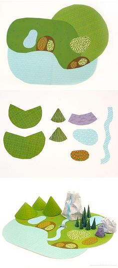 My Paper World | free printable papers to cut and make play landscape | By http://mrprintables.com