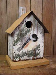 Metal Roof Chickadee Birdhouse