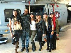 The Total Divas, Supporting the Troops. Alicia Fox, Brie Bella, Natalya, Amanda Saccomanno, Eva Marie