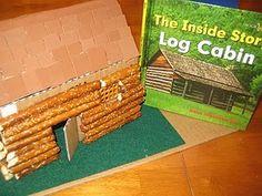 """Make a """"Log"""" Cabin out of Pretzel Rods!"""