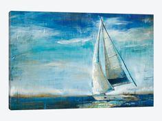 Great Big Canvas Sail Away by Liz Jardine Painting Print on Gallery Wrapped Canvas Frames On Wall, Framed Wall Art, Canvas Wall Art, Canvas Prints, Big Canvas, Ocean Canvas, Ocean Art, Canvas Size, Framed Prints