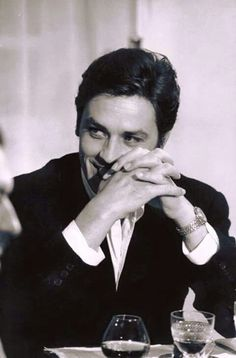 Alain Delon He was in the French Marines in Indochina, dishonorably discharged, before he got into movies. Naughty boy.