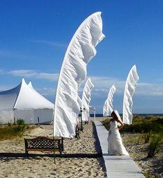 Cape May, NJ Shore dream beach wedding Wedding Flags, Tent Wedding, Wedding Venues, Wedding Ideas, Pool Wedding, Ibiza Wedding, Dream Wedding, Street Banners, Shelter Island