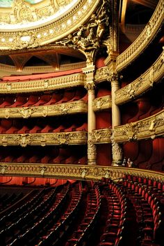Opera House - Paris, France in Red and Gold