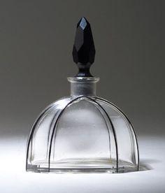 Czechoslovakian perfume bottle, circa 1920's