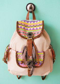 diy My Attic: Fashionista Update! Hipster Fashion, Teen Fashion, Hipster Bag, Fashion 101, School Fashion, Style Fashion, Fashion Design, Diy Mochila, Aztec Bag