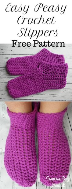 Knitting For Beginners Baby Booties Crochet Slippers Super Ideas Easy Crochet Slippers, Crochet Socks Pattern, Crochet Shoes, Crochet Baby Booties, Baby Slippers, Crochet Patterns For Beginners, Knitting For Beginners, Easy Crochet Patterns, Baby Patterns