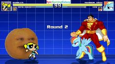 The Annoying Orange & Bubbles The Powerpuff Girl VS Shazam & Rainbow Dash In A MUGEN Match / Battle This video showcases Gameplay of The Annoying Orange And Bubbles The Powerpuff Girl From The Powerpuff Girls Series VS Shazam The Superhero And Rainbow Dash From The My Little Pony Friendship Is Magic Series In A MUGEN Match / Battle / Fight