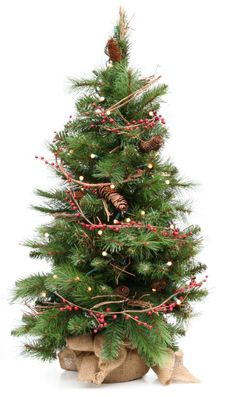 pics of how to decorate pinecones how to decorate a natural christmas tree idealhomegarden - Natural Christmas Tree