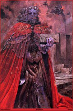 Wayne Barlowe, Sargatanas, from Barlowe's Inferno Arte Horror, Horror Art, Dark Fantasy Art, Dark Art, Wayne Barlowe, Les Aliens, Satanic Art, Arte Obscura, Macabre Art