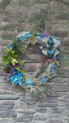 Peacock wreath by Pam Etheridge