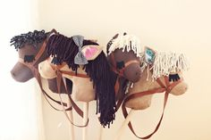 Adorable DIY stick horses- such a great gift idea