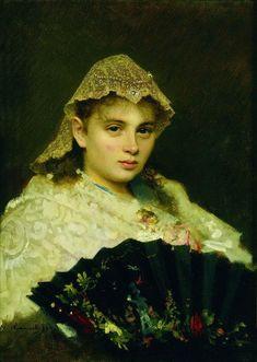Portrait of Olga Afanasiyevna Raftopulo, 1884  Ivan Kramskoy