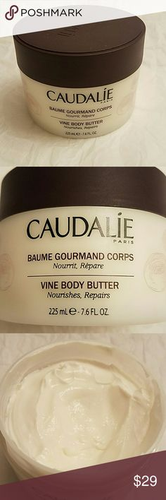 "Caudalie Vine Body Butter 7.6 Fl Oz from Sephora Pre-owned. Almost full.  ""Made in France. Its smooth, lightly fragrances texture instantly soothes dry, tight- feeling skin. Deeply nourished, the skin is supple and comfortable.  Perfect as an after-school product. 95% natural ingredients. Main active ingredients: Grape and Shea butters"".  **Valentine's Sale** Reducing price from $29 until Midnight on February 14th. Caudalie  Other"