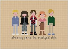 Cross stitch 80s movie The breakfast club Kreuzstich...just AWESOME