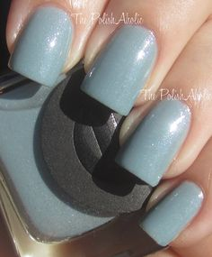 Cirque | Cape Liz | A moody light blue with multi-dimensional shimmer | 1st version bottle with hand applied paper label | BN $11