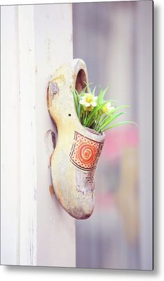 Dutch Wooden Shoe Floral Decor Metal Print by Jenny Rainbow. All metal prints are professionally printed, packaged, and shipped within 3 - 4 business days and delivered ready-to-hang on your wall. Choose from multiple sizes and mounting options. Art Prints For Home, Home Art, Fine Art Prints, Framed Prints, Dutch Wooden Shoes, Bright Paintings, Got Print, Fine Art Photography, Fine Art America