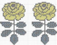 ヴィキルースの図案 | Sabotenのアメブロ編 Iron Beads, Marimekko, Hama Beads, Flower Patterns, Stitch Patterns, Diy And Crafts, Cross Stitch, Tapestry, Crafty