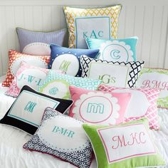 Monogram Pillow Cover | PBteen - for Brielle's new big girl bed