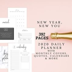 Daily Planner for 2020, 2020 Weekly Planner, 2020 Monthly Planner, 2020 Daily Planner by DesignerJaim on Etsy Goals Planner, Blog Planner, Monthly Planner, Free Planner, September Calendar, January To December, About Me Page, Printing And Binding, Pocket Calendar