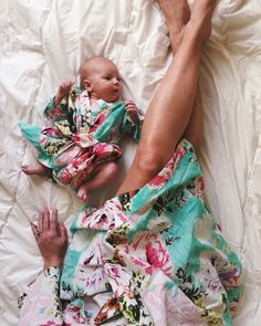 New Born Robe, Baby Kaftan, add to a hospital bag, match with birthing robe or a…