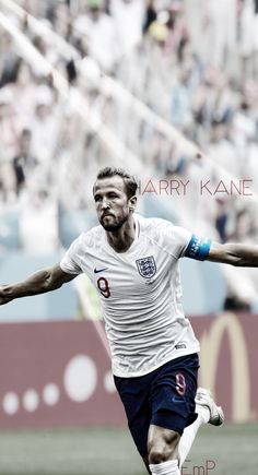 Harry Kane - Football Wallpaper - Other Wallpapers on Dysse. Free Football, Football Love, Harry Kane Wallpapers, Football Wallpaper Iphone, England Football Players, Soccer Backgrounds, England National Team, Soccer Motivation, Messi And Ronaldo