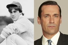Seth Poppel/Yearbook Library, Frank Ockenfels/AMC     Jon Hamm as Don Draper in Mad Men Season 5   Hamm loved performing from an early age and attended the University of Missouri on an acting scholarship shortly after this photo was taken.