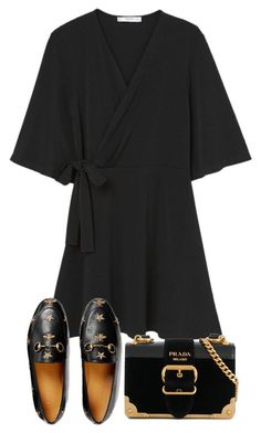 """""""Untitled #5227"""" by theeuropeancloset on Polyvore featuring MANGO, Gucci and Prada #comfystyle"""