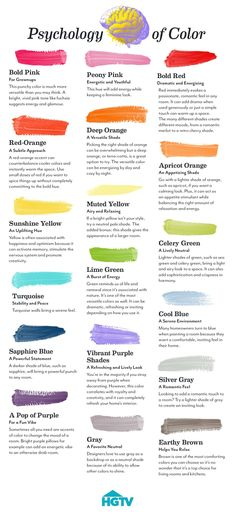 Psychology of Color: Find the perfect shade that fits your aesthetic with this helpful guide featuring 18 popular hues. >> http://www.hgtv.com/design/decorating/color/2017/p/psychology-of-color?soc=pinterest