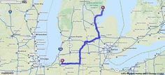Driving Directions from East Tawas, Michigan to Granger, Indiana   MapQuest