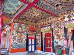 Temple interior, Sikkim. Explore Eastern India with us! http://www.kennethphotography.com/india
