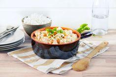Får du mange middagsgjester en travel ukedag, passer denne kyllinggryta med eplesaft og balsamicoeddik perfekt.