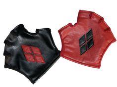 Harley Quinn Arkham City Fingerless Gloves by SiQclothing on Etsy, $65.00