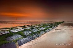 Sunset in Oostende, zie kaart