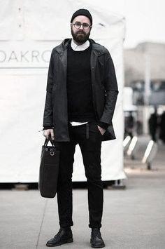ab8bb9a95417e8 40 Alle schwarzen Outfits für Männer - Bold Modische Looks  looks  manner   modische