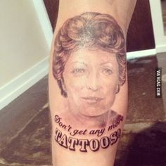 """""""My friends Grandma told him not to get anymore tattoos. He got this."""""""