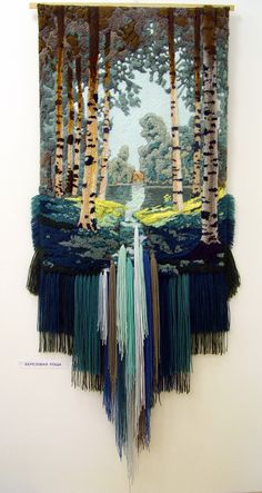 Morgenlicht: Yuri N. Hovsepian - tissage - - Ideias e Fios Art Fibres Textiles, Textile Fiber Art, Weaving Textiles, Weaving Art, Tapestry Weaving, Loom Weaving, Weaving Wall Hanging, Peg Loom, Weaving Projects