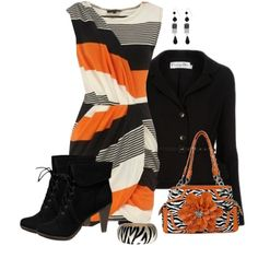 Deep into orange, created by bluebells75 on Polyvore