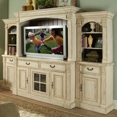 Riverside Weybridge Wellington White Wall Entertainment Center - Entertainment Centers at Buy Entertainment Centers