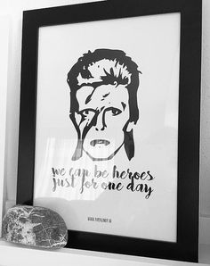 David Bowie  We can be heroes  Kaart A6 of Poster door PaperCandyNL