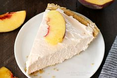 No-Bake Peach Cheesecake | Love Bakes Good Cakes