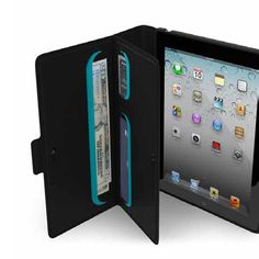 Speck Wanderfolio for iPad 3 - Black / Peacock - outfitYOURS.com