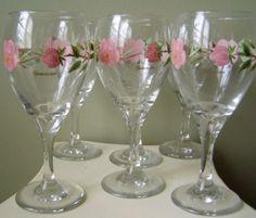 Franciscan DESERT ROSE Wine Goblets 10oz