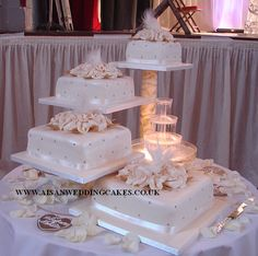 Home Asian Wedding Cakes Square Wedding Cakes, Wedding Cake Stands, Amazing Wedding Cakes, Elegant Wedding Cakes, Wedding Cake Designs, Wedding Cupcakes, Wedding Cake Toppers, Bolo Artificial, Fountain Wedding Cakes