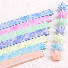 Star Folding Paper Lucky Wish Star Origami Paper Ribbon origami | Wish | 236x236