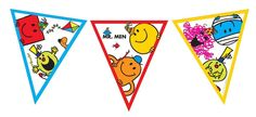 MR.MEN BUNTING - 12 FLAGS - FLAG BANNER BIRTHDAY PARTY DECORATION | eBay