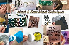 Metal & Faux Metal Stamping Techniques: FREE eArticle Want to create the look of metal in your next stamp art project? You can create all kinds of faux metal looks with craft supplies you already have at home! Or maybe you would actually like to rubber stamp on metal with ink or paint? This article gives you a slew of technique options!