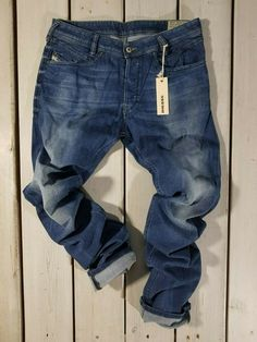 fc3a6a40 New Diesel Men's Jeans W34 L34 Iakop 0836X Regular Slim Tapered Stretch Blue  #fashion #