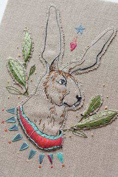 ♒ Enchanting Embroidery ♒ embroidered rabbit